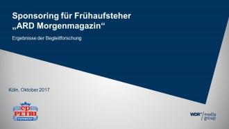 Begleitende Marktforschung zum TV-Sponsoring Wetter im ARD-Morgenmagazin. Petrella