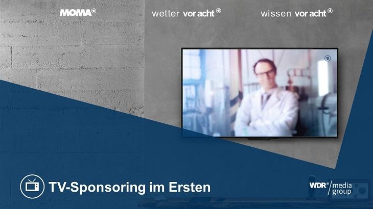 TV-Sponsoring Portfolio der WDR mediagroup. Wissen vor acht, Wetter vor acht, Wetter im ARD Morgenmagazin, Sport im ARD Morgenmagazin, Das Wetter im Ersten, Vor der Tagesschau