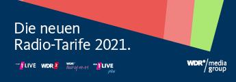 Radio-Tarife 2021für 1LIVE und WDR 2