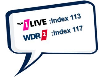 Wellenwissen Indizes 1LIVE und WDR 2 zum Thema Grillhäufigkeit