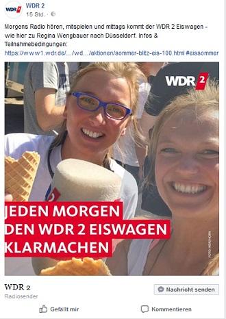 WDR 2 Blitz-Eis Programm-Aktion