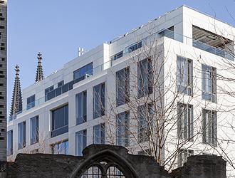 Zentrale der WDR mediagroup in Köln.